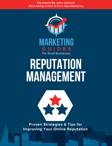 Marketing Guides for Small Businesses Reputation Management book cover.