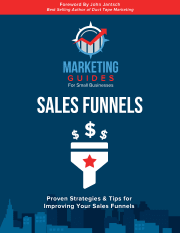 Marketing Guides for Small Businesses Sales Funnels book cover.