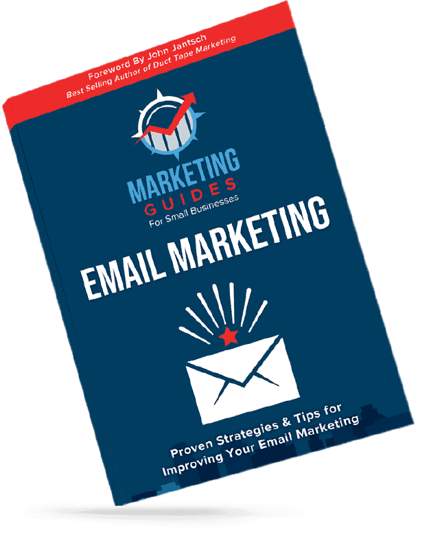 Marketing Guides for Small Businesses Email Marketing slant book cover.